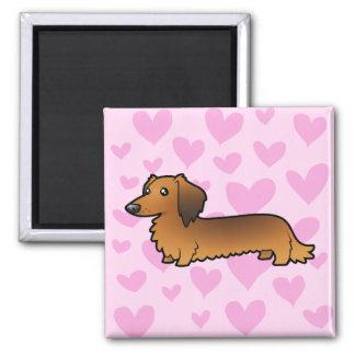 Dachshund Love (longhair) Magnet