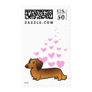 Dachshund Love (longhair) Postage