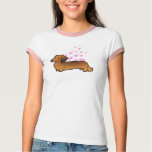 Dachshund Love (longhair) T Shirt