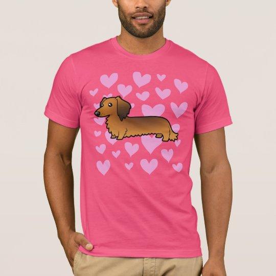 Dachshund Love (longhair) T-Shirt