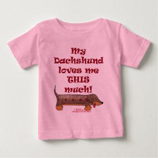 Dachshund Love Meter Baby T-Shirt