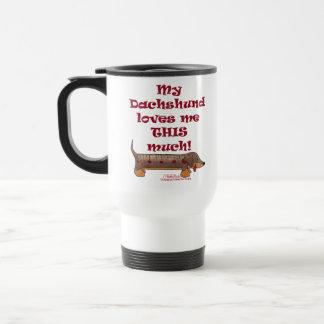 Dachshund Love 15 Oz Stainless Steel Travel Mug