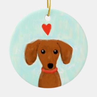 Dachshund Love Christmas Tree Ornaments
