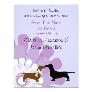 Dachshund Love Save the Date Announcement