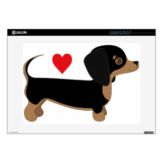 """Dachshund Love Decal For 15"""" Laptop"""
