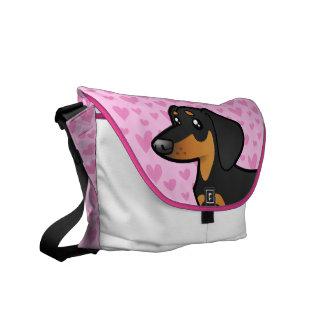Dachshund Love (smooth coat) Messenger Bag