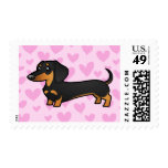 Dachshund Love (smooth coat) Postage Stamp