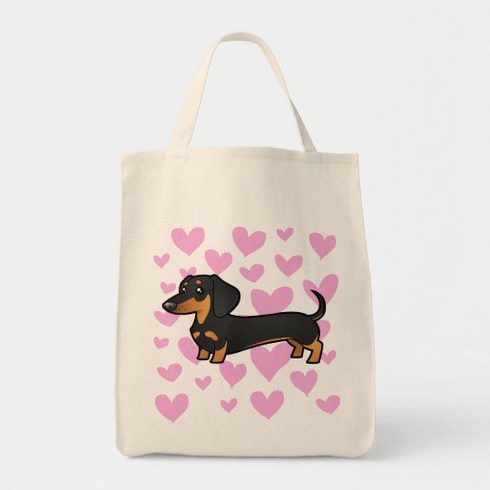 Dachshund Love (smooth coat) Tote Bag