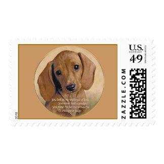 """Dachshund Love"" Stamps"
