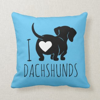 Dachshund Love Throw Pillow
