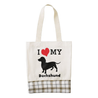Dachshund Love Travel Tote by Mini Brothers