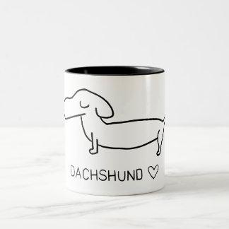 Dachshund Love Two-Tone Coffee Mug