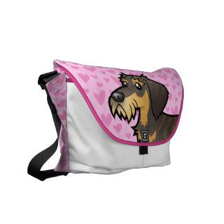 Dachshund Love (wirehair) Courier Bag