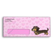 Dachshund Love (wirehair) Envelope