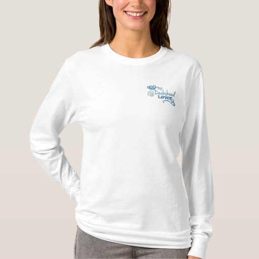 Dachshund Lover Embroidered Long Sleeve T-Shirt