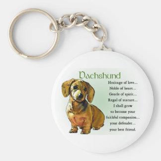Dachshund Lover Gifts Basic Round Button Keychain