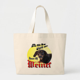 Dachshund Lover Large Tote Bag