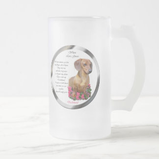 Dachshund Lovers Doxie 16 Oz Frosted Glass Beer Mug