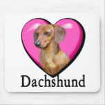 Dachshund Lovers Valentines Mouse Pad