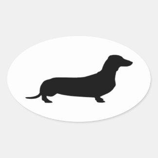 Dachshund = Lowrider Oval Sticker