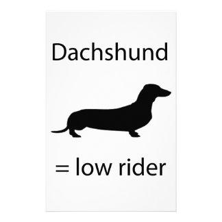 Dachshund = Lowrider Stationery