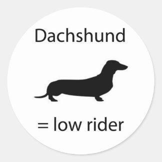 Dachshund = Lowrider Round Sticker
