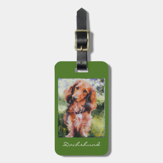 Dachshund luggage purse or key chain tag