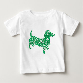 Dachshund Made of Shamrocks Baby T-Shirt