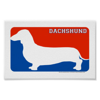 Dachshund Major League Dog Print