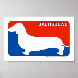 Dachshund Major League Dog Print