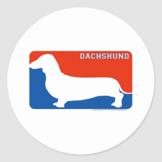 Dachshund Major League Dog Sticker