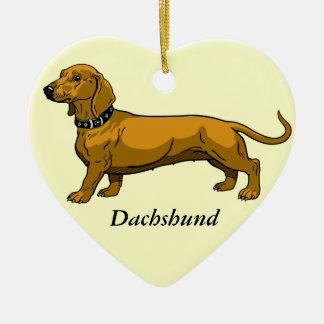 dachshund marrón ornamento de navidad