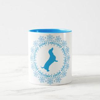 Dachshund Merry Christmas Coffee Mug
