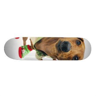 Dachshund - merry christmas - cute dog skateboard