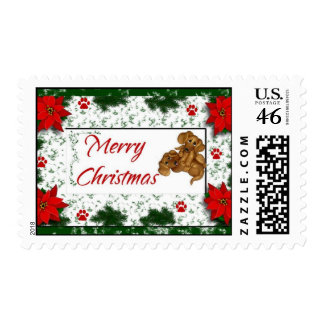 Dachshund Merry Christmas  Postage Stamps