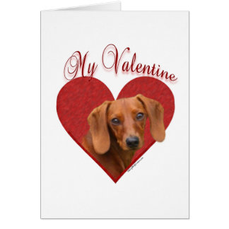 Dachshund mi tarjeta del día de San Valentín