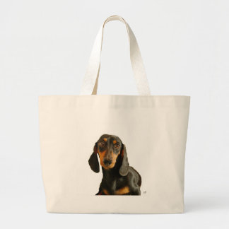 Dachshund ( Mini Brown Short Haired ) Large Tote Bag