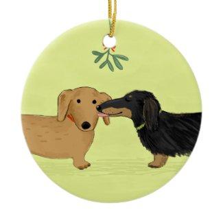 Dachshund Mistletoe Kiss - Wiener Dog Christmas