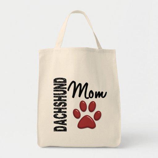 Dachshund Mom 2 Grocery Tote Bag