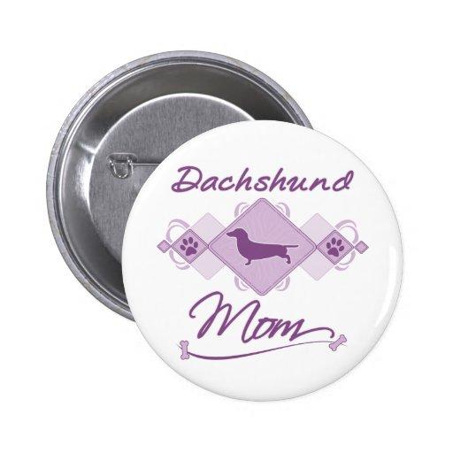Dachshund Mom 2 Inch Round Button