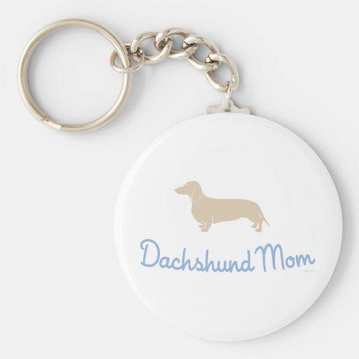 Dachshund Mom ! Basic Round Button Keychain