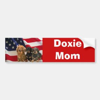 Dachshund Mom Bumper Sticker Car Bumper Sticker