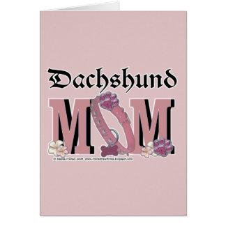 Dachshund MOM Cards