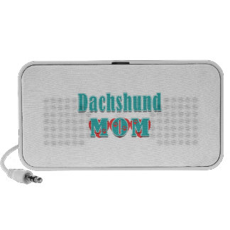 Dachshund Mom Hearts Travelling Speakers