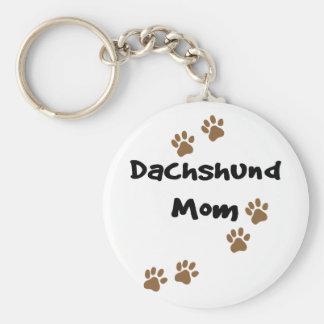 Dachshund Mom Basic Round Button Keychain