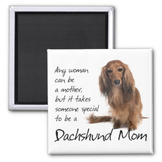 Dachshund Mom 2 Inch Square Magnet