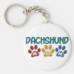 DACHSHUND Mom Paw Print 1 Basic Round Button Keychain