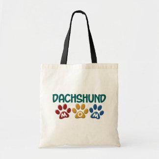 DACHSHUND Mom Paw Print 1 Tote Bag