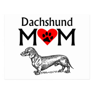 Dachshund Mom Postcard