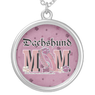 Dachshund MOM Silver Plated Necklace